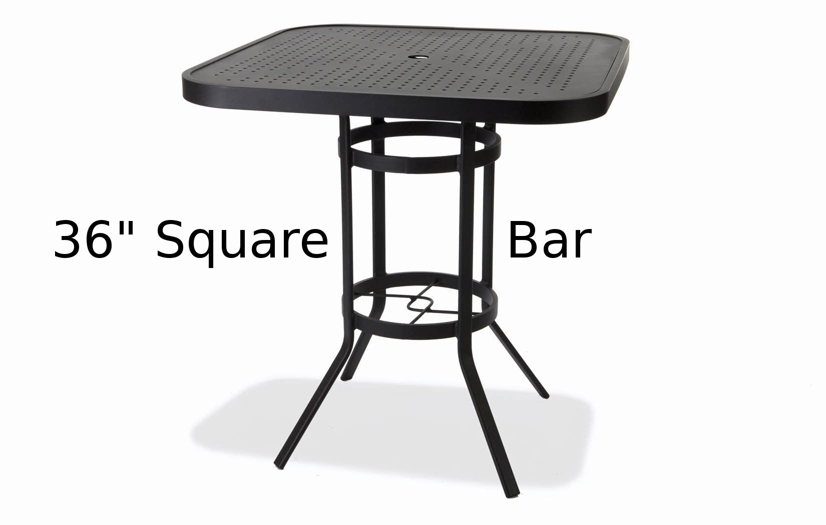 M8136-HSTUQ  Matrix Stamped Aluminum 36 Inch Round Bar Height Table