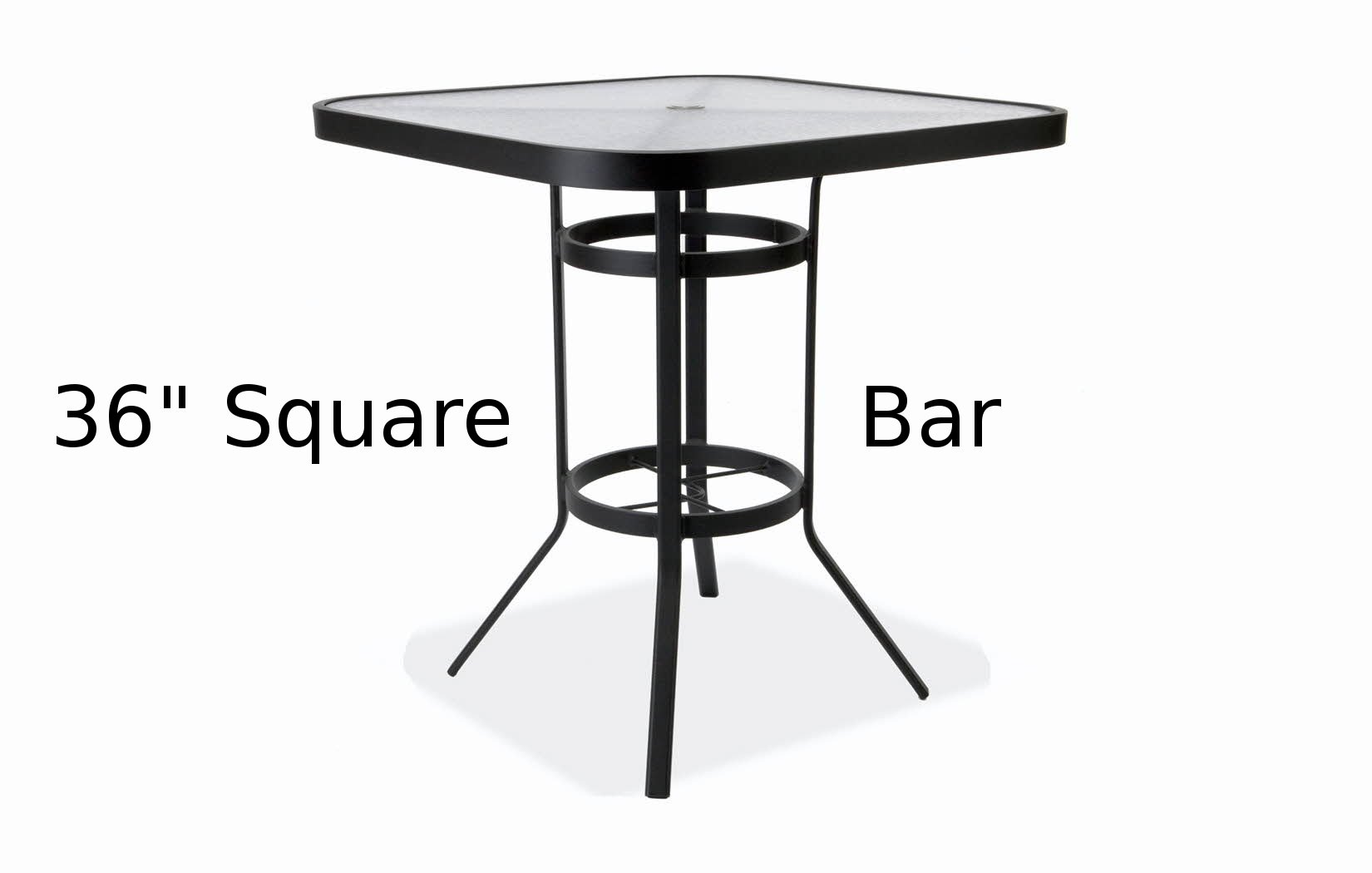 M8136-HAUQ  36 Inch Square Acrylic Top Bar Height Table