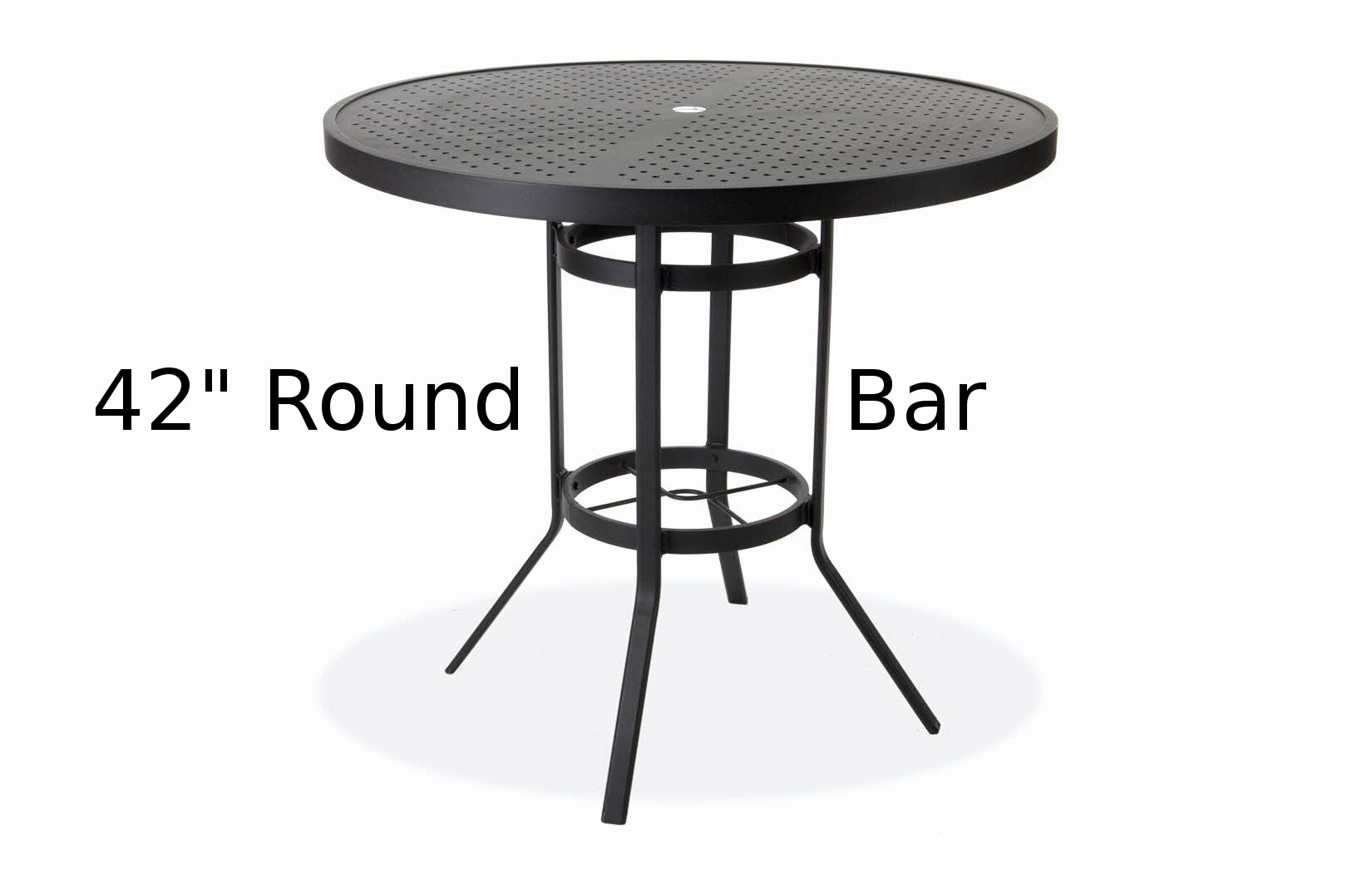 M8142-HST  Matrix Stamped Aluminum 42 Inch Round Bar Height Table