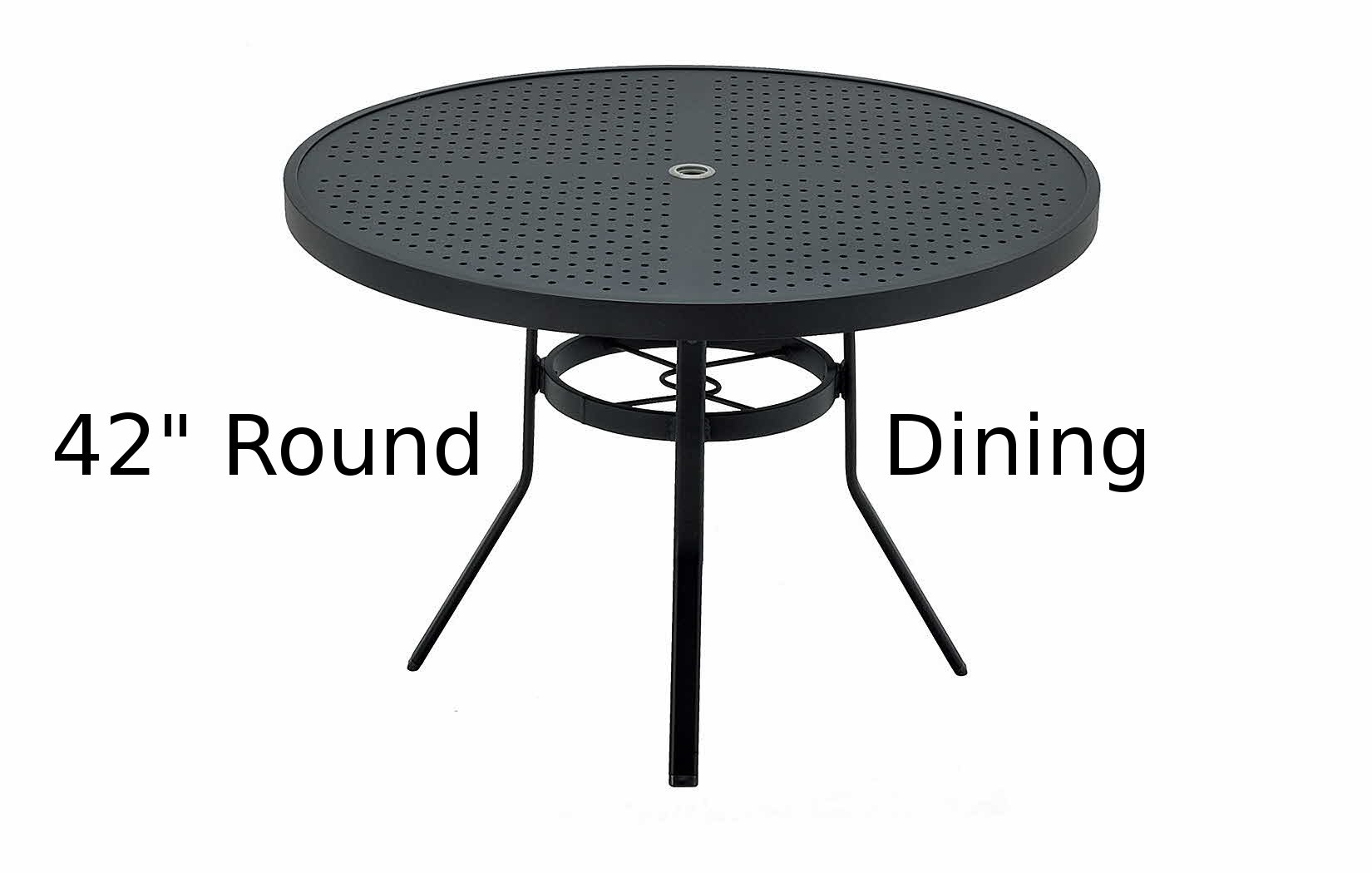 M8142-ST  Matrix Stamped Aluminum 42 Inch Round Dining Table