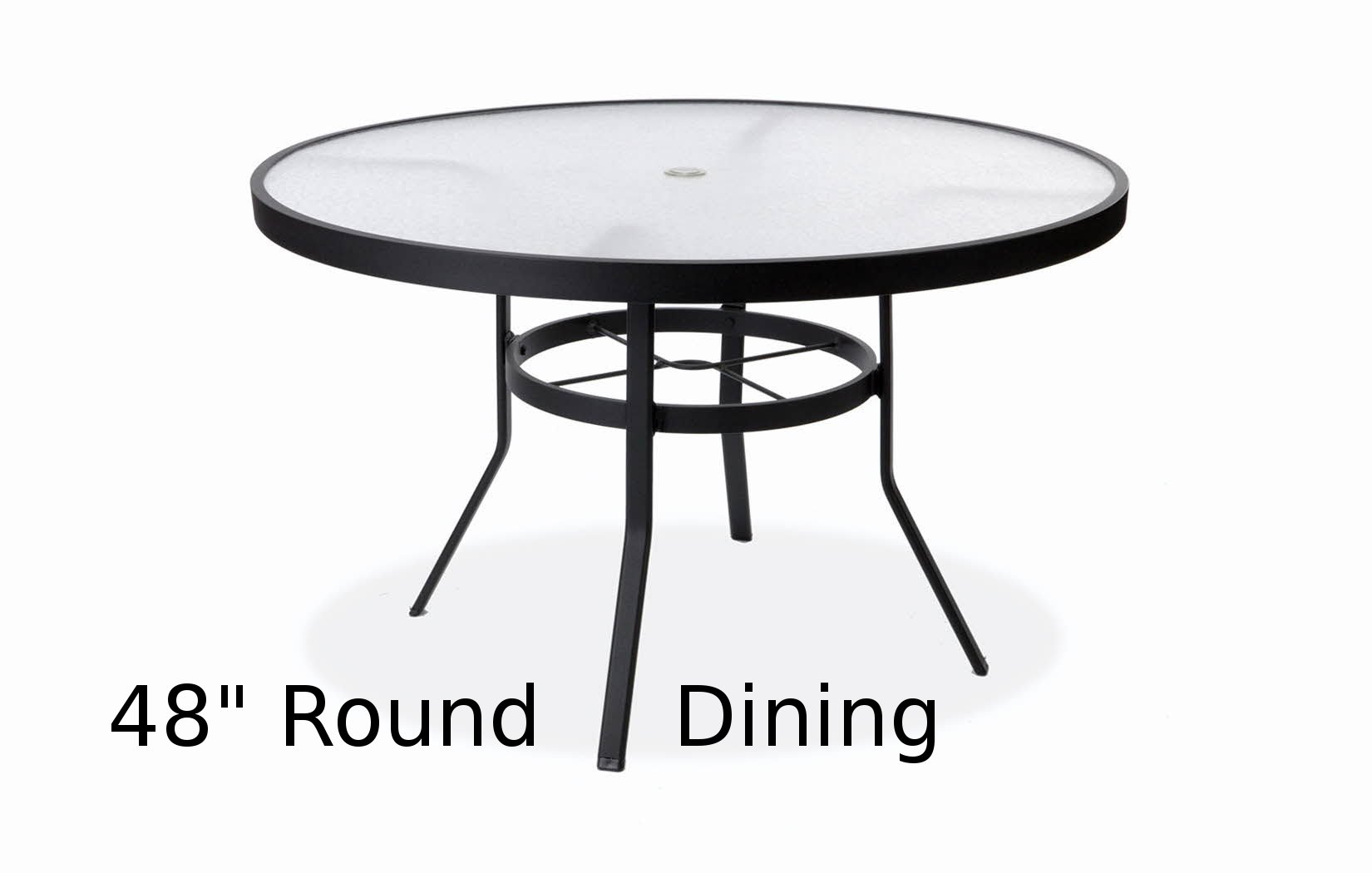 M8148AU  48 Inch Round Acrylic Top Dining Table