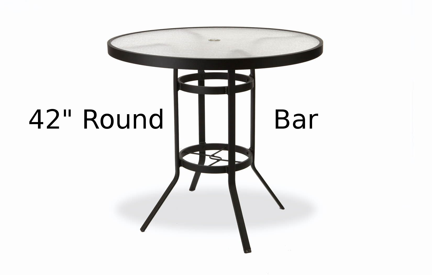 M8142-HAU  42 Inch Round Acrylic Top Bar Height Table
