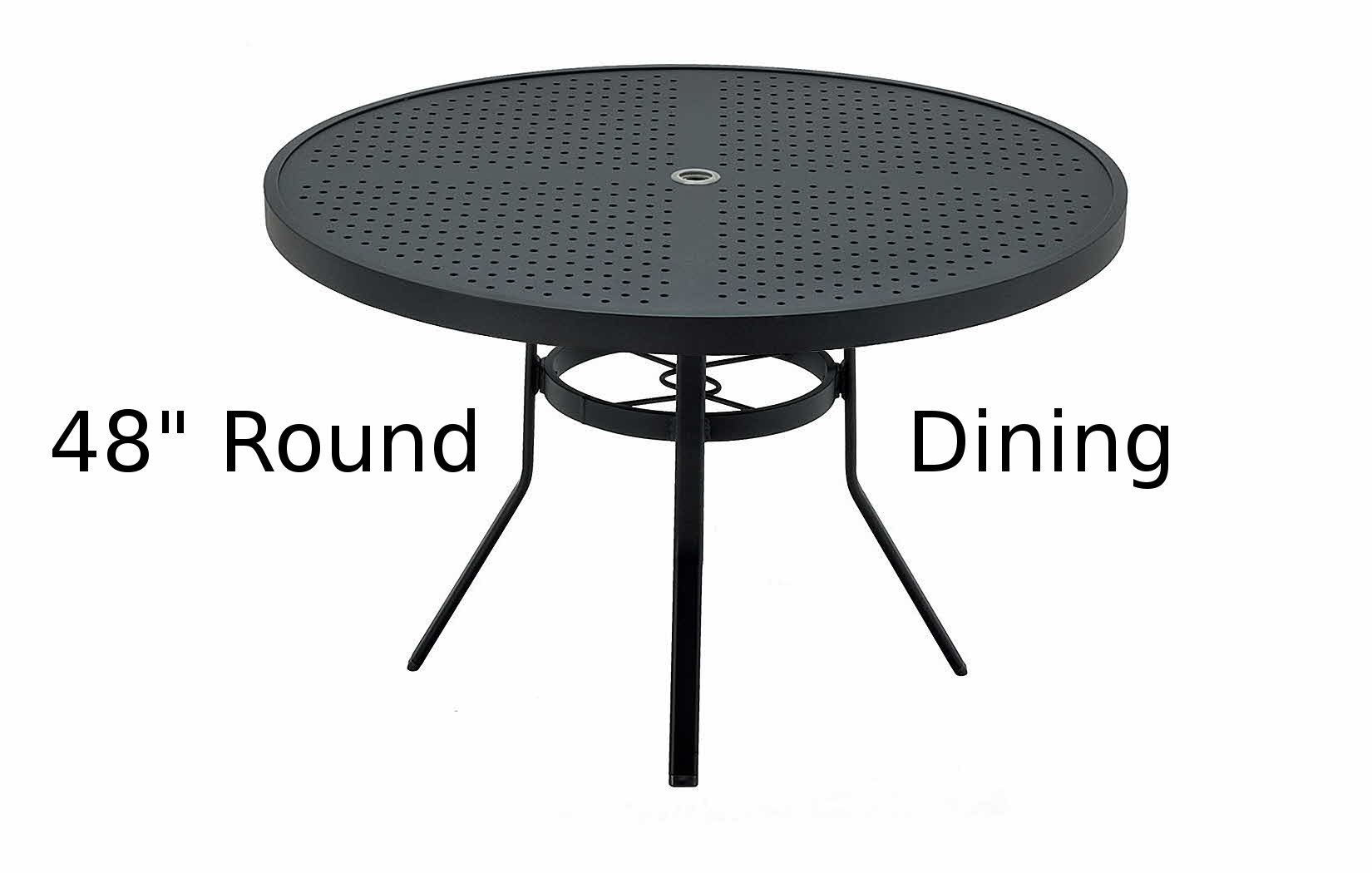 M8148-ST  Matrix Stamped Aluminum 48 Inch Round Dining Table