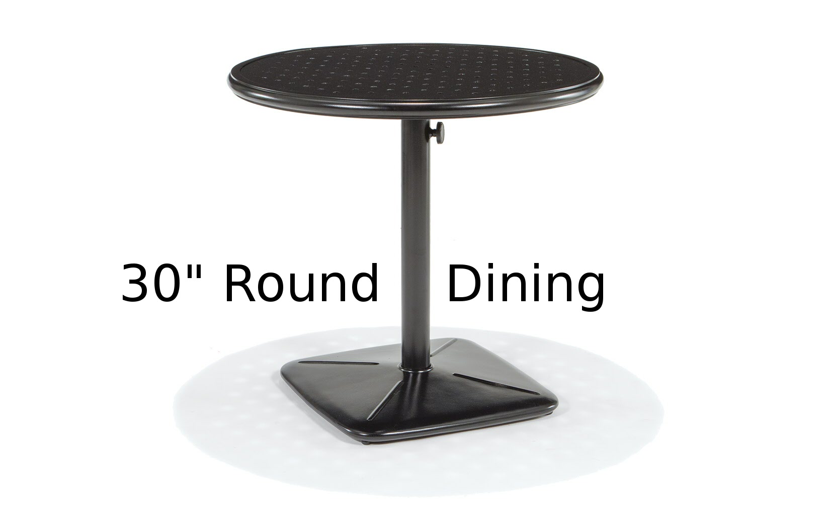 M9830-RST  Stamped Aluminum Round Dining Table