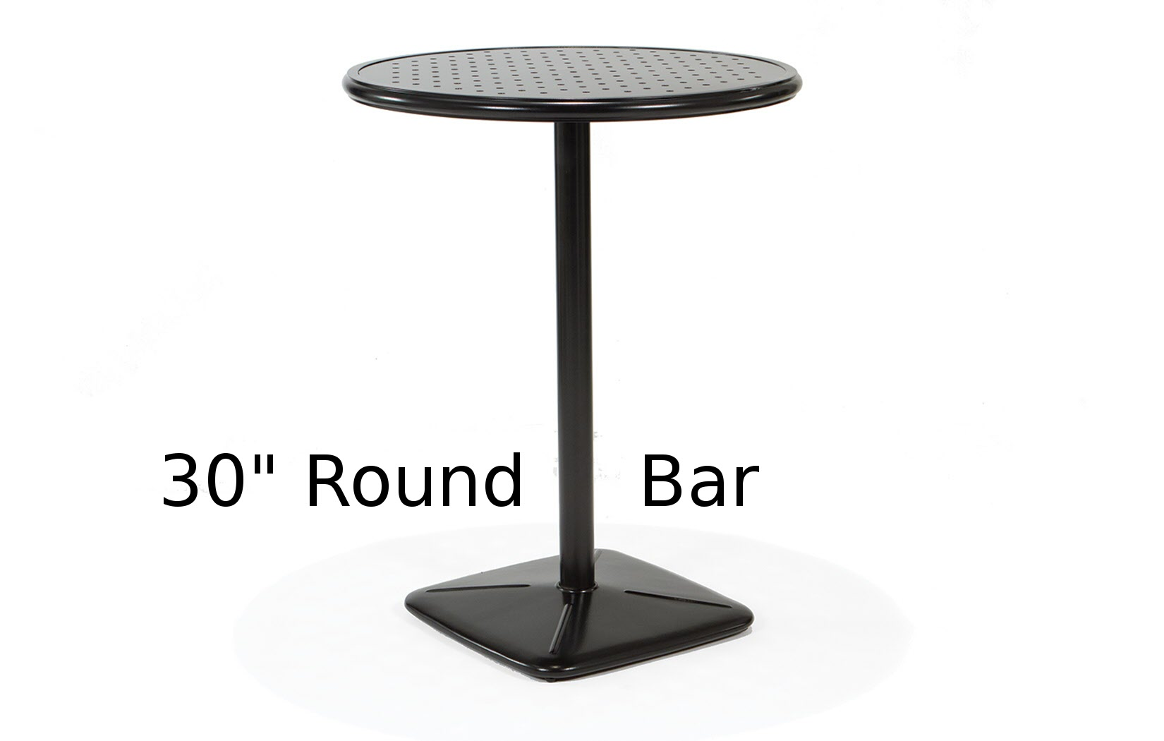 M9830B-RST  Stamped Aluminum 30 Inch Bar Table