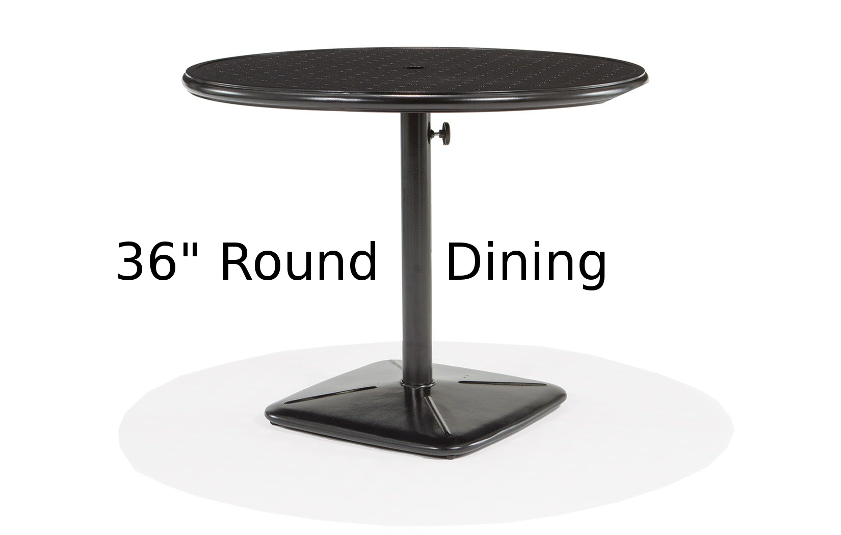 M9836-RST  Stamped Aluminum 36 Inch Round Dining Table