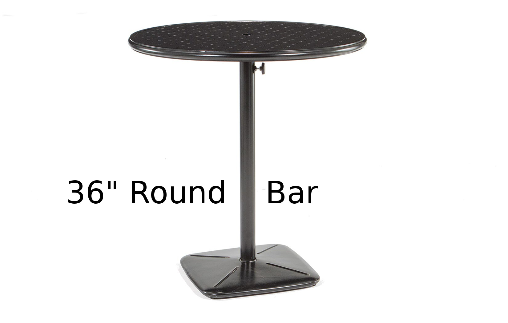 M9836B-RST  Stamped Aluminum 36 Inch Round Bar Height Table