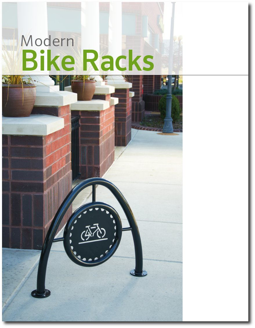 Modern Bike Rack Brochure Cover Page