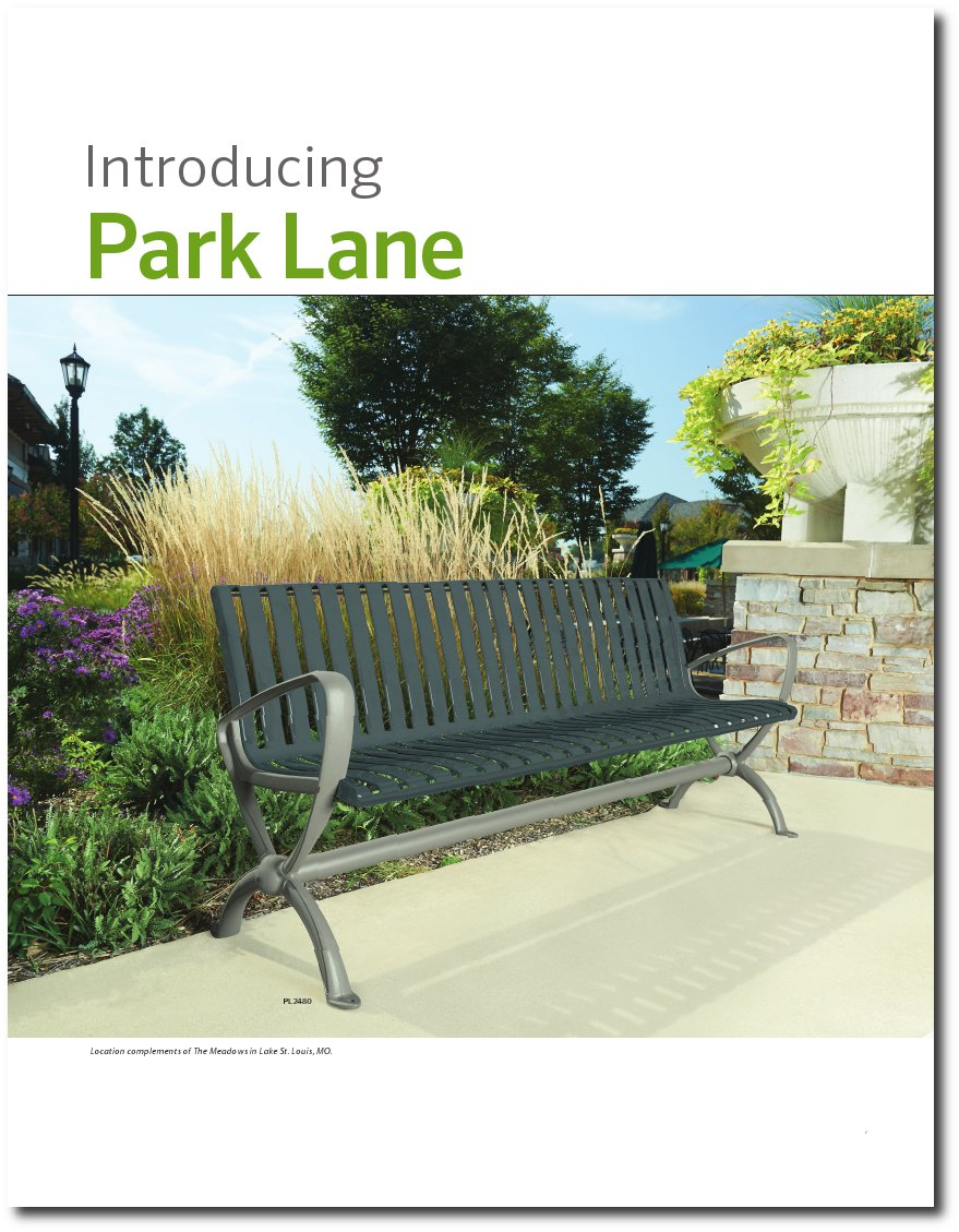 Park Lane Collection Brochure Cover Page