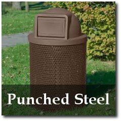 Punched Steel Commercial Trash Receptacles