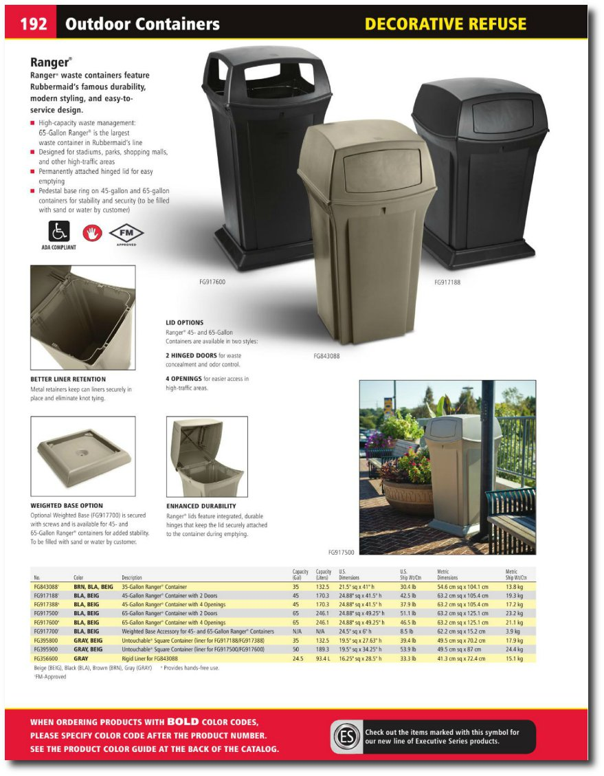 Ranger Series Catalog Page