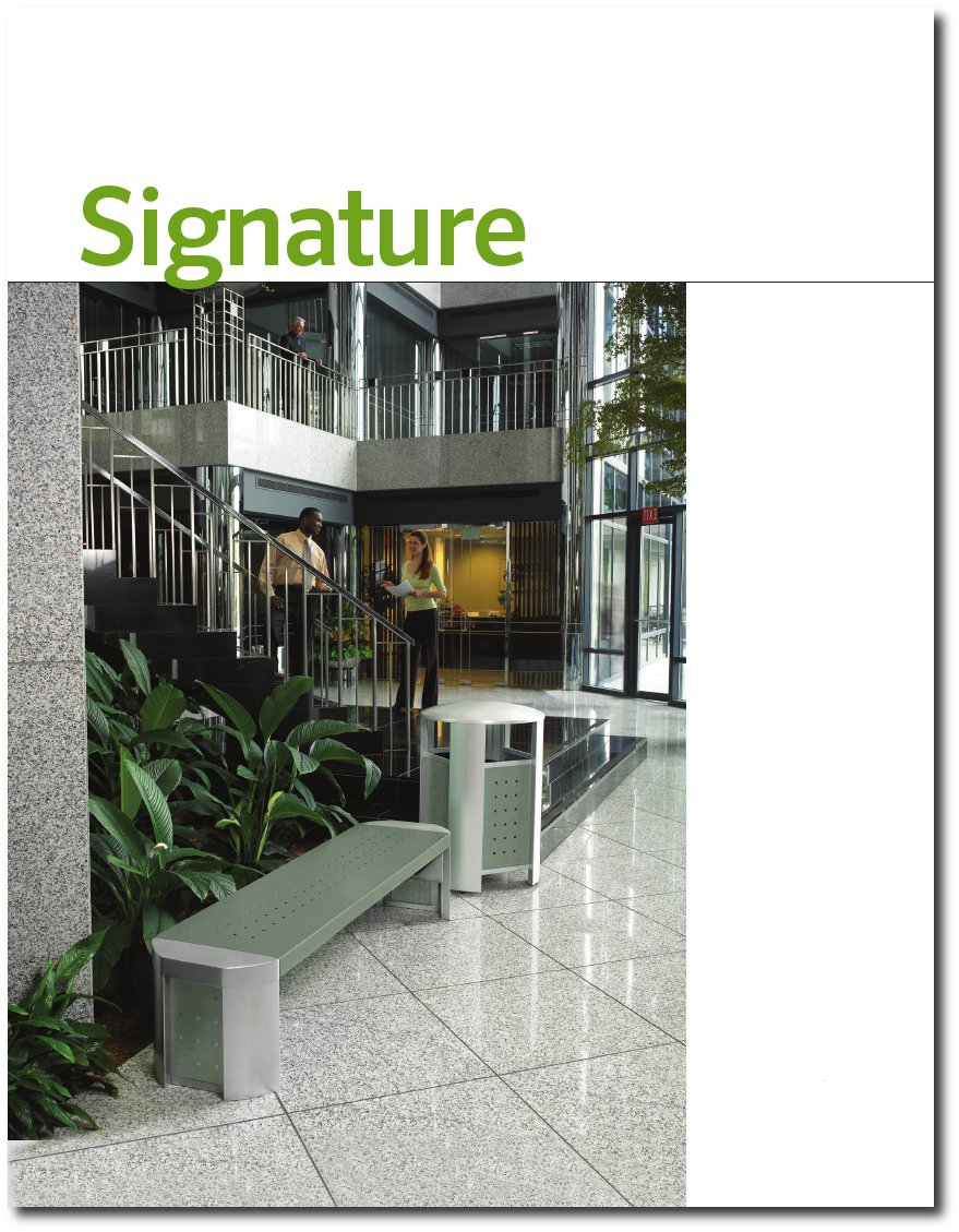 Signature Brochure Cover Page