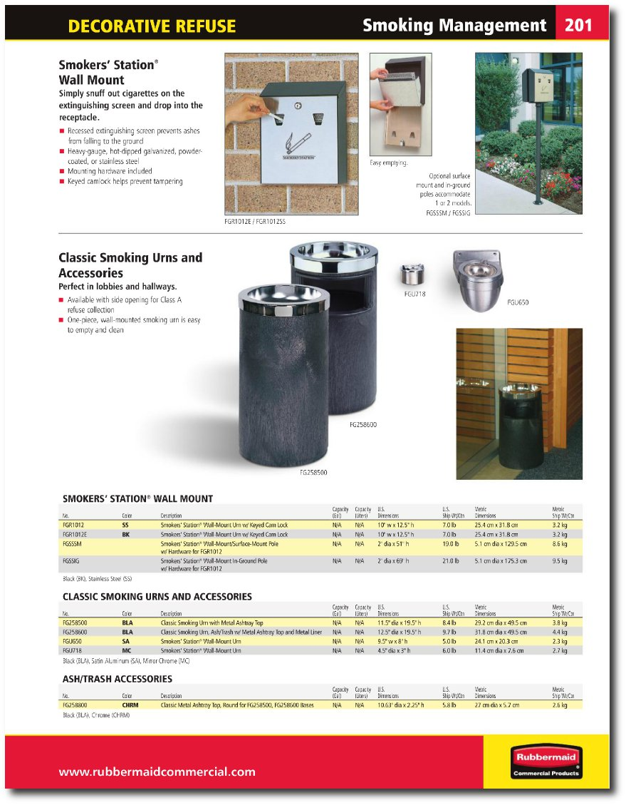Smokers Station Catalog Page