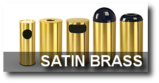 Satin Brass Trash Receptacles