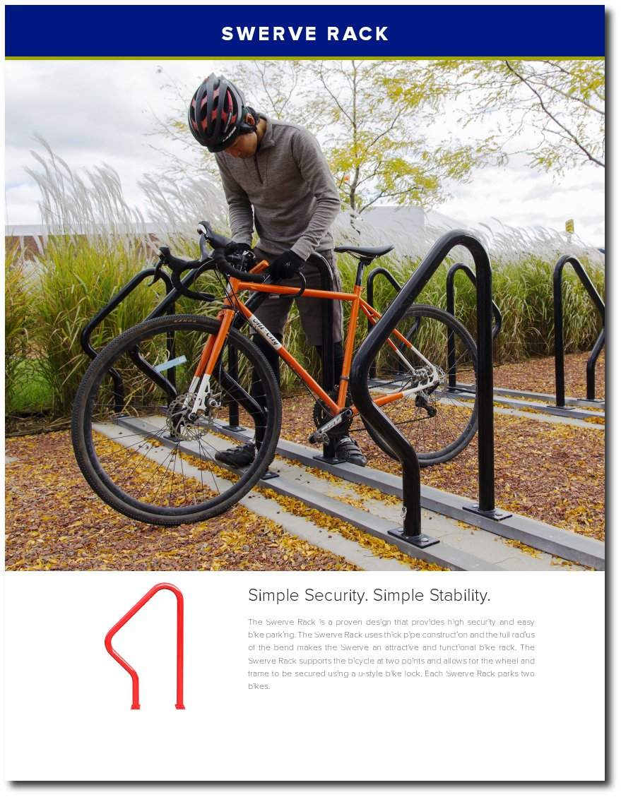 Bike Bike Rack Brochure Cover Page