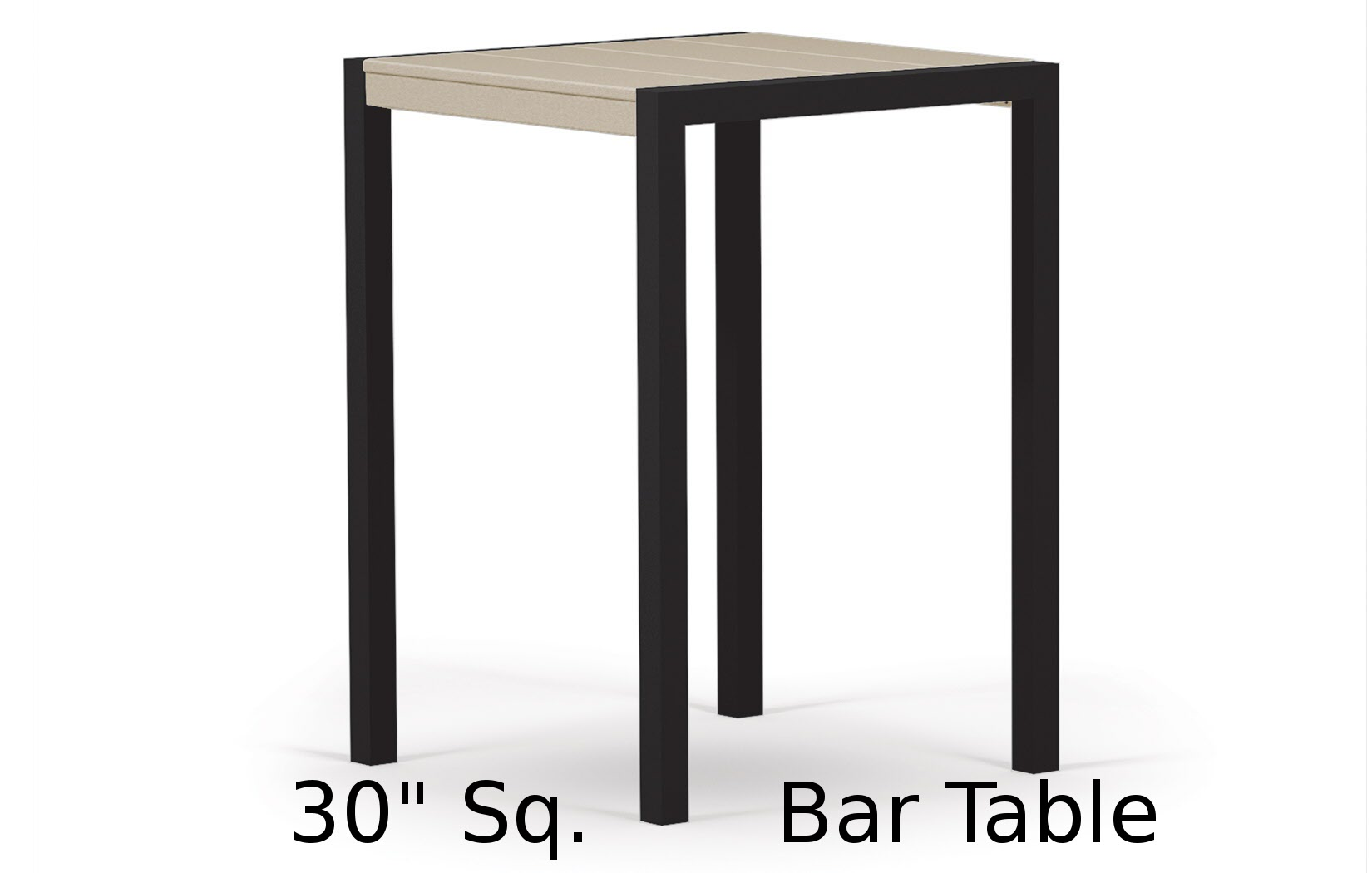 TC8012  Fresco Collection 30 Inch Square Bar Table