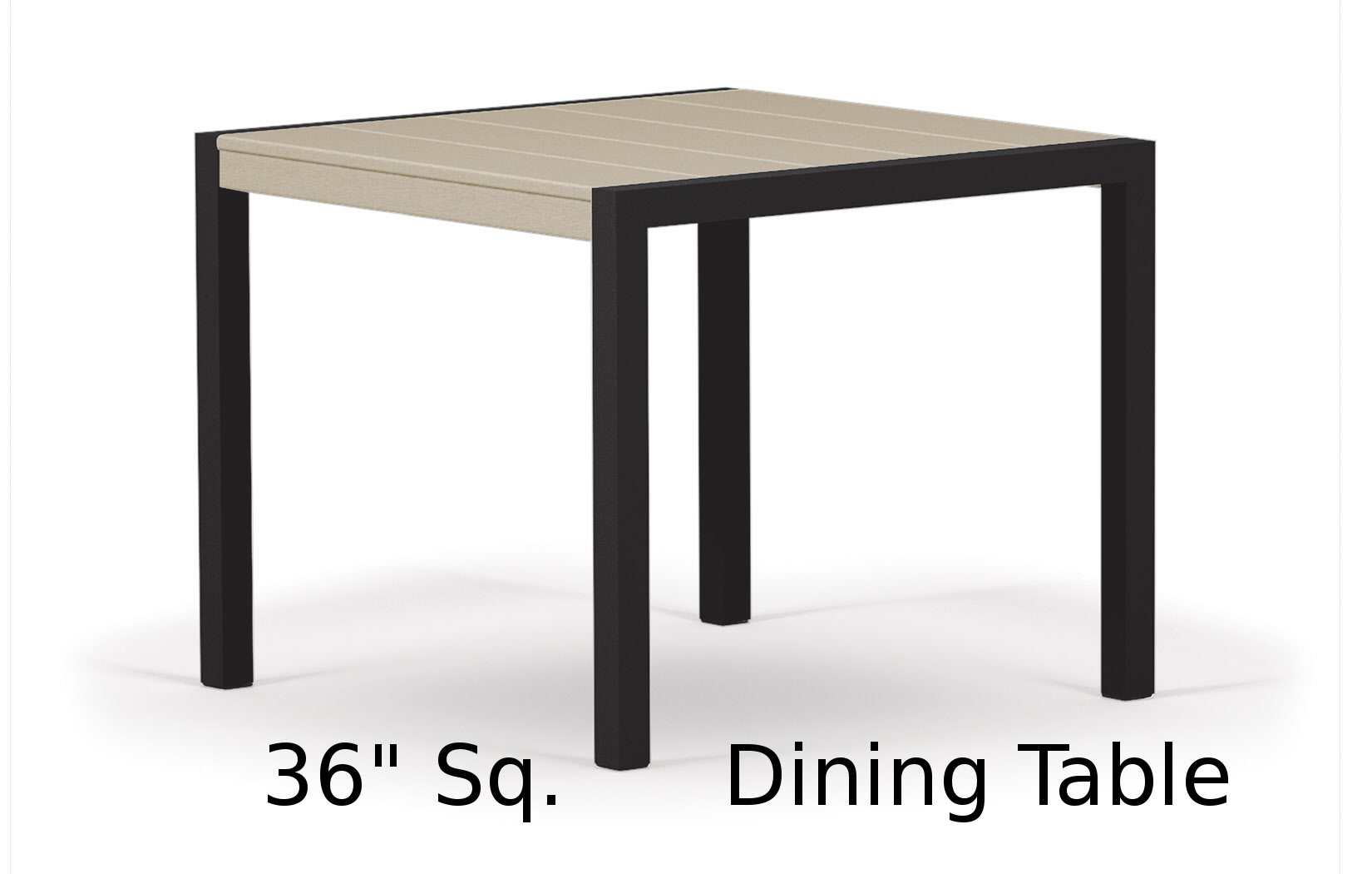 TC8110  Fresco Collection 36 Inch Square Dining Table