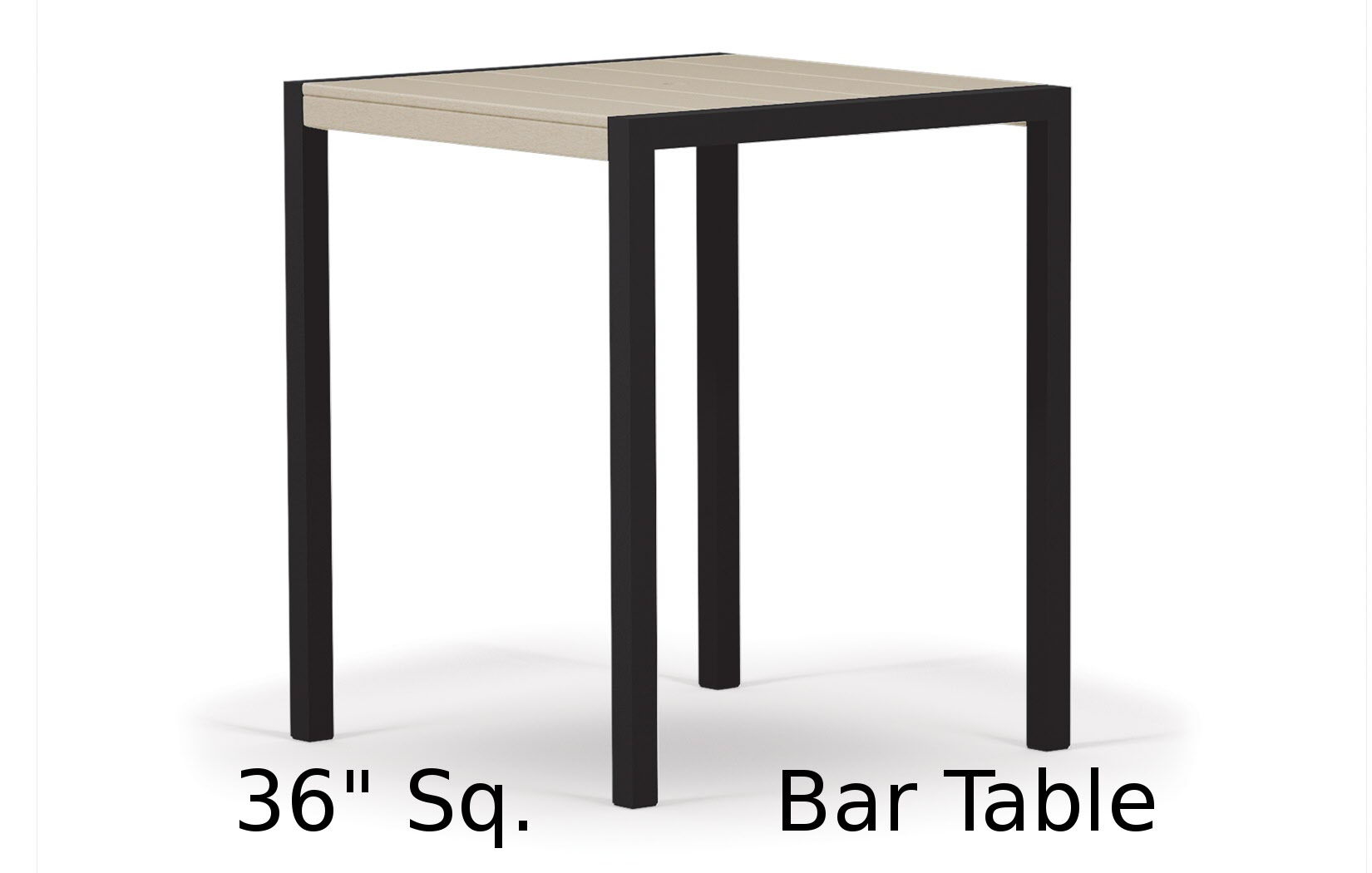 TC8112  Fresco Collection 36 Inch Square Bar Table