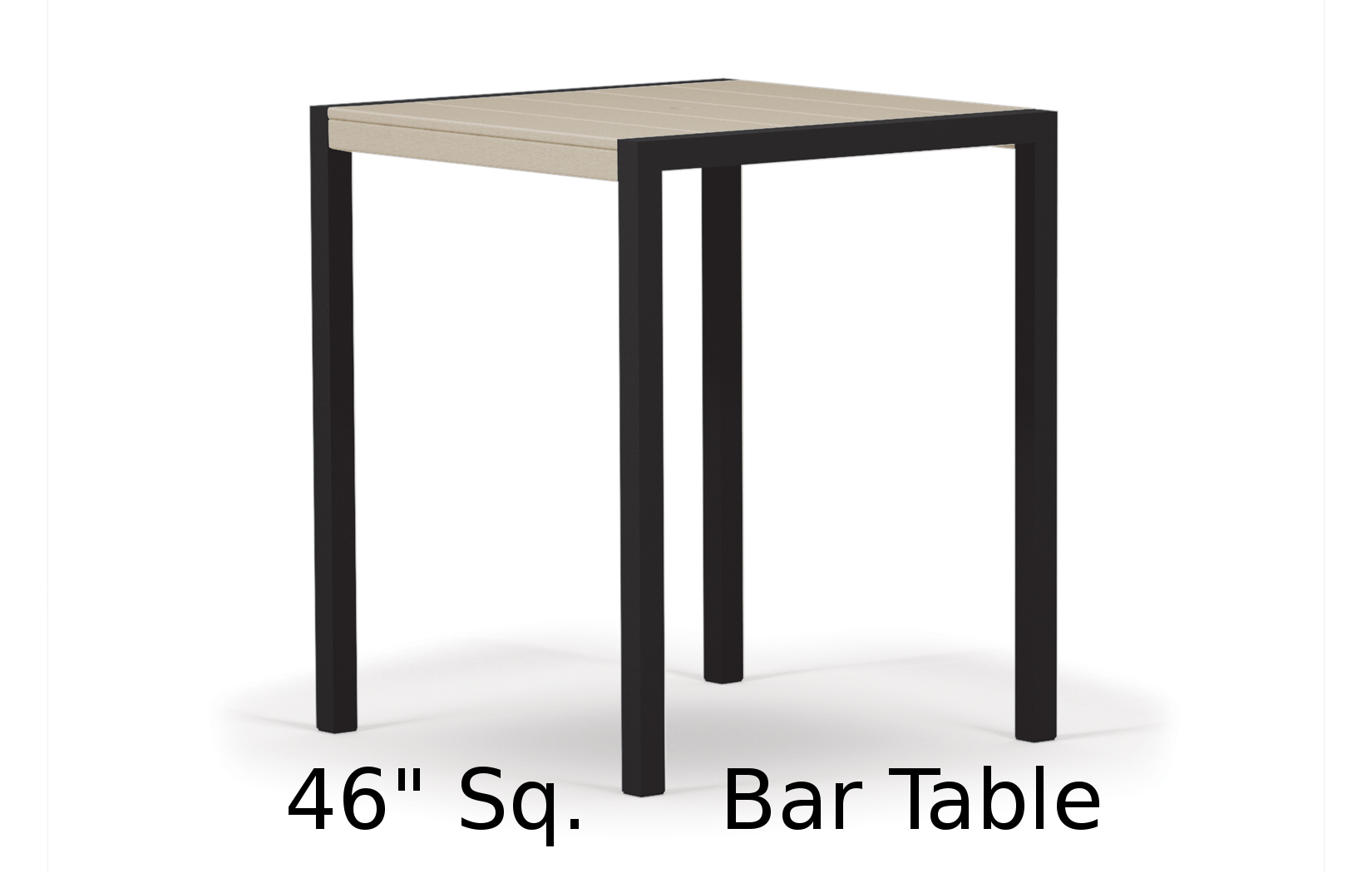 TC8212  Fresco Collection 46 Inch Square Bar Table