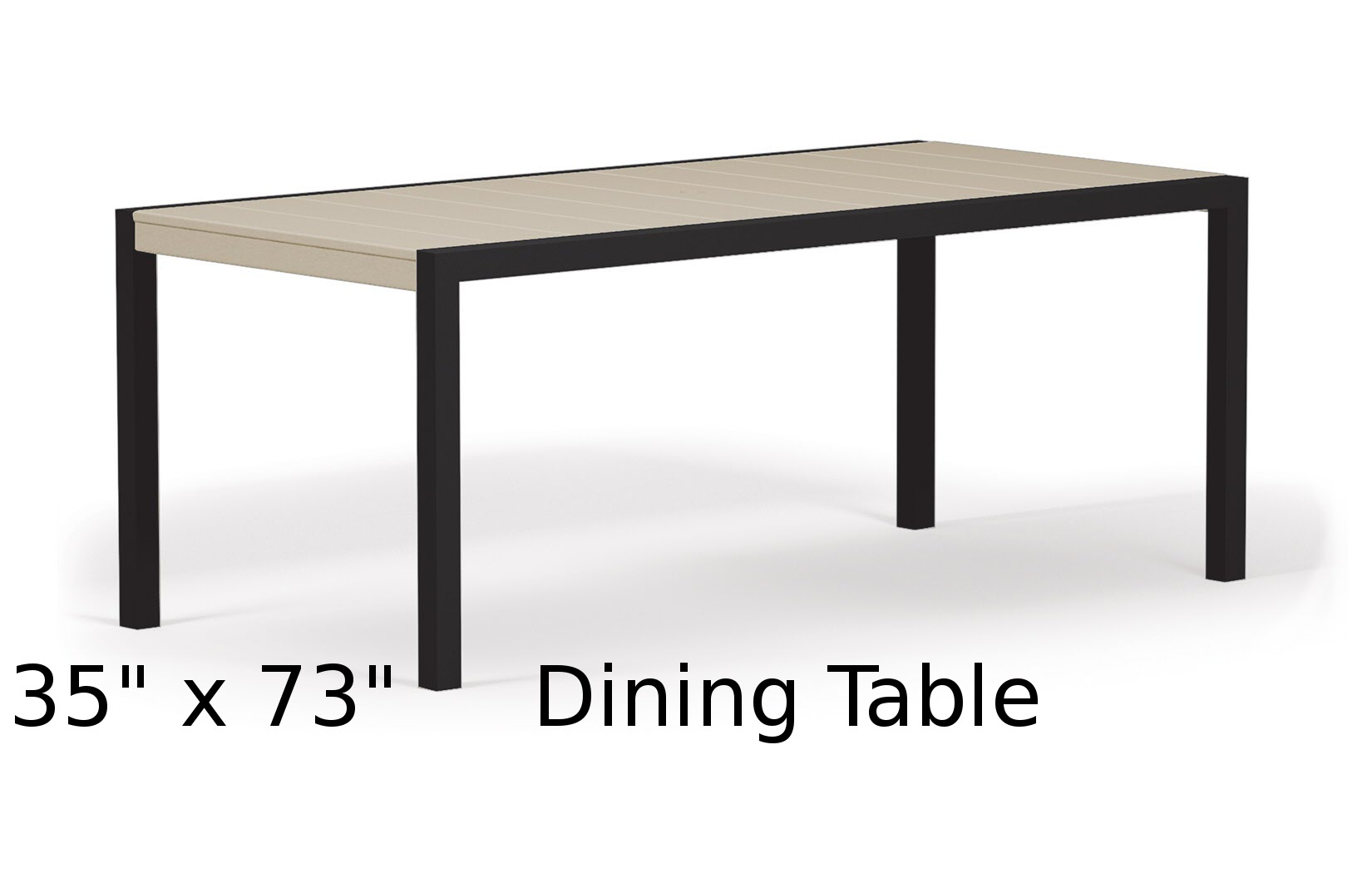 TC8310  Fresco Collection 35 x 73 Inch Dining Table
