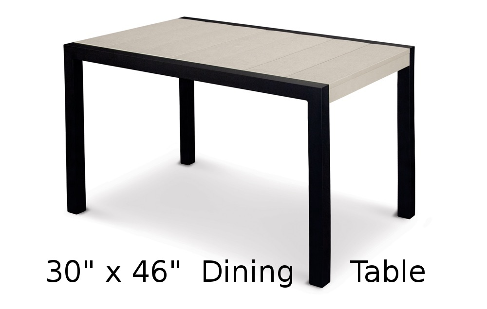 TC8E10  Fresco Collection 30 x 46 Inch Dining Table