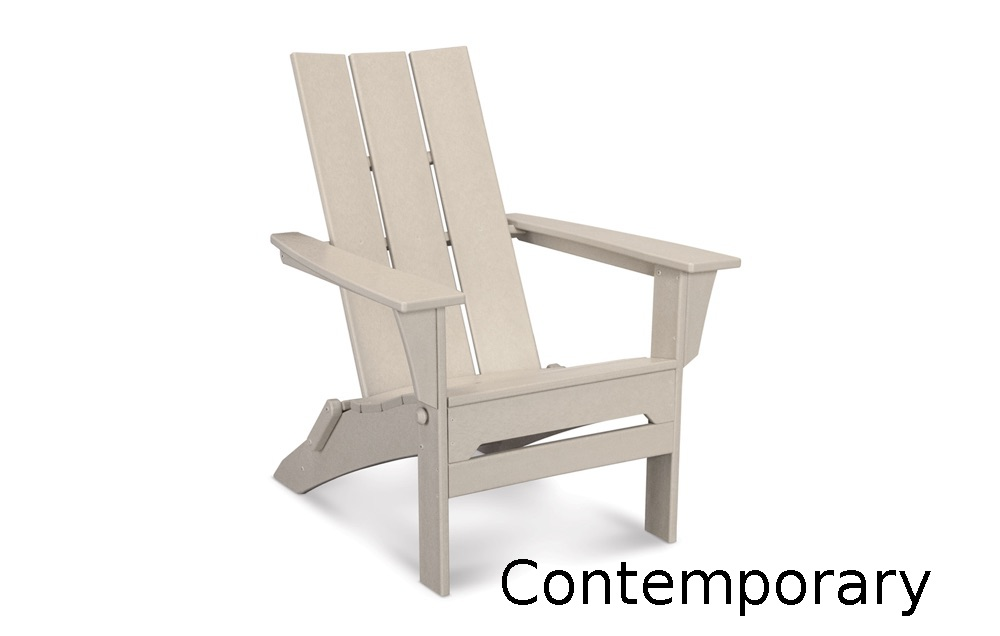 TCMNA110  Contemporary Adirondack Lounge Chair