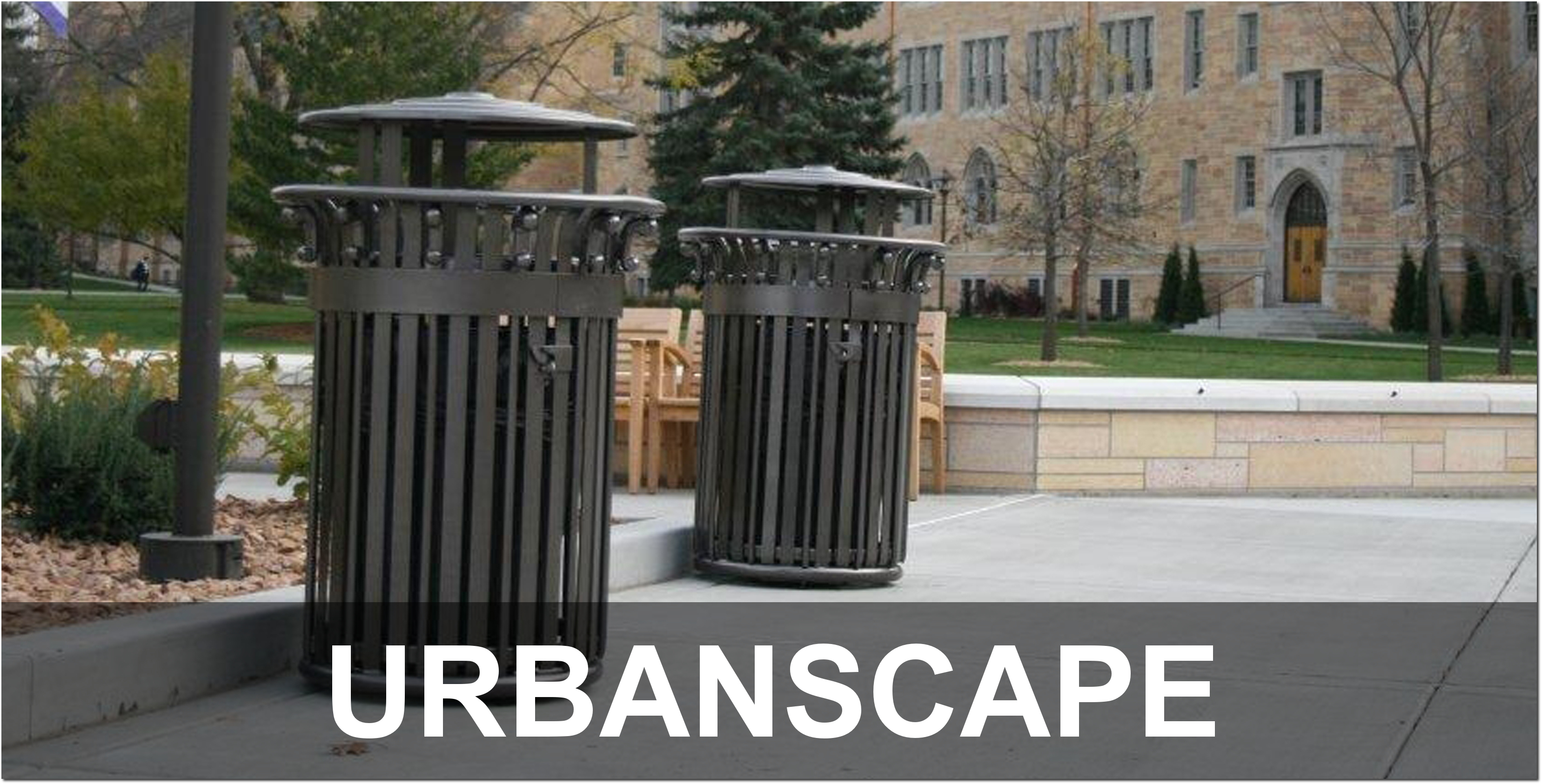 UrbanScape Collection Outdoor Commercial Trash Receptacles