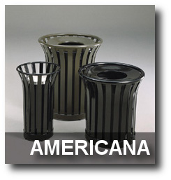 Americana Series Trash Receptacles