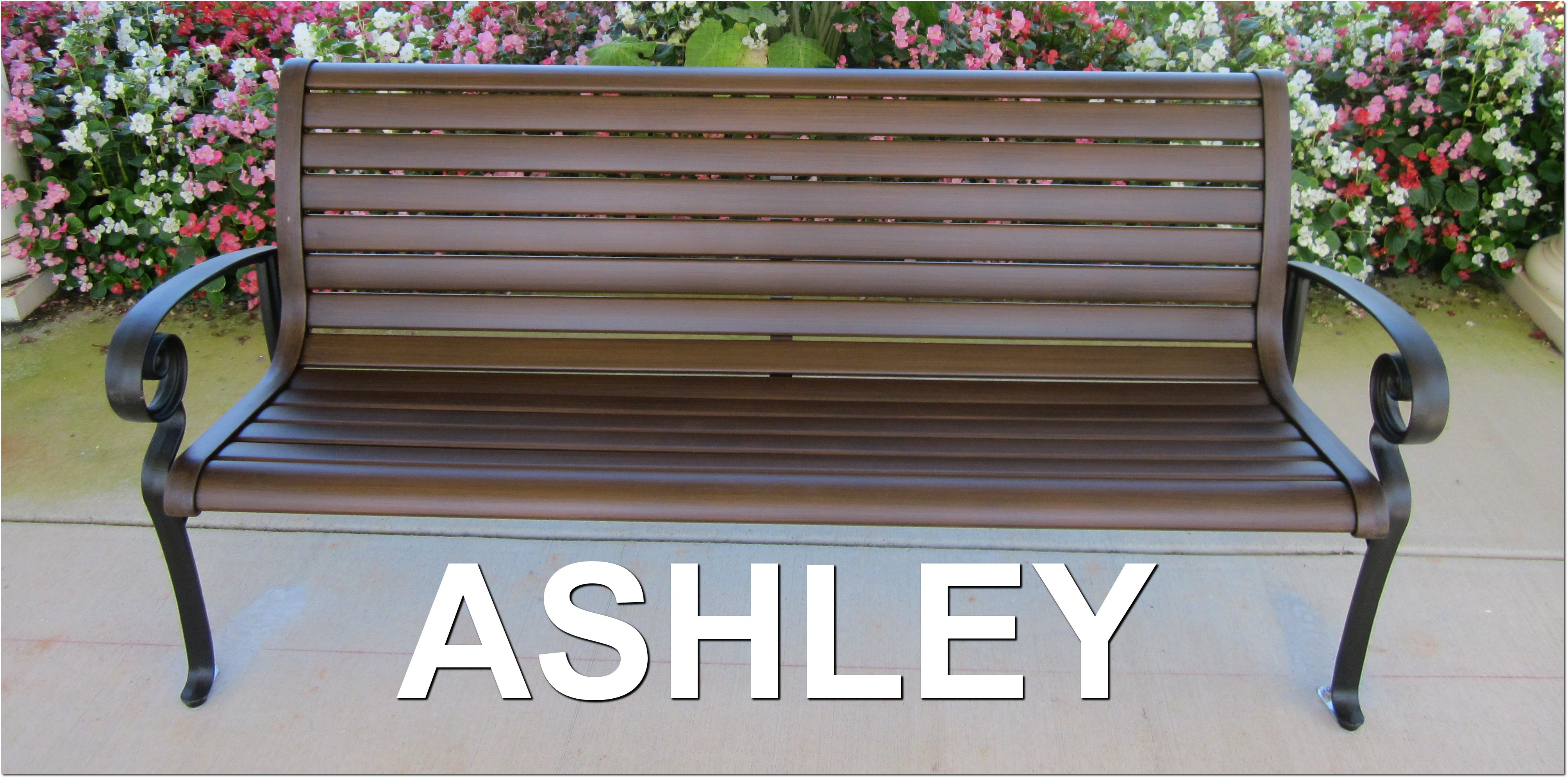 Ashley Collection Elegant Outdoor Park Bench