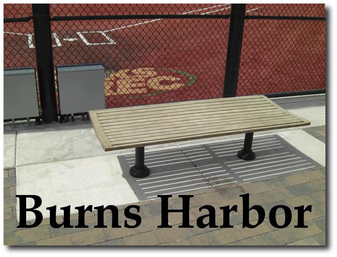 Burns Harbor Flat Bench with Faux Wood Finish