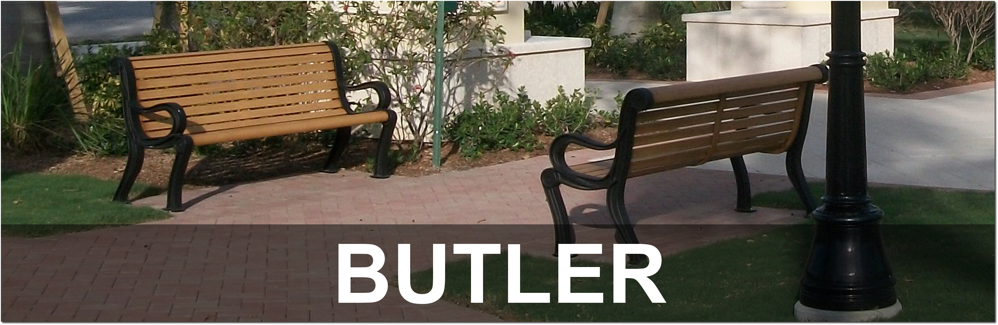 Butler Collection Outdoor Park Benches