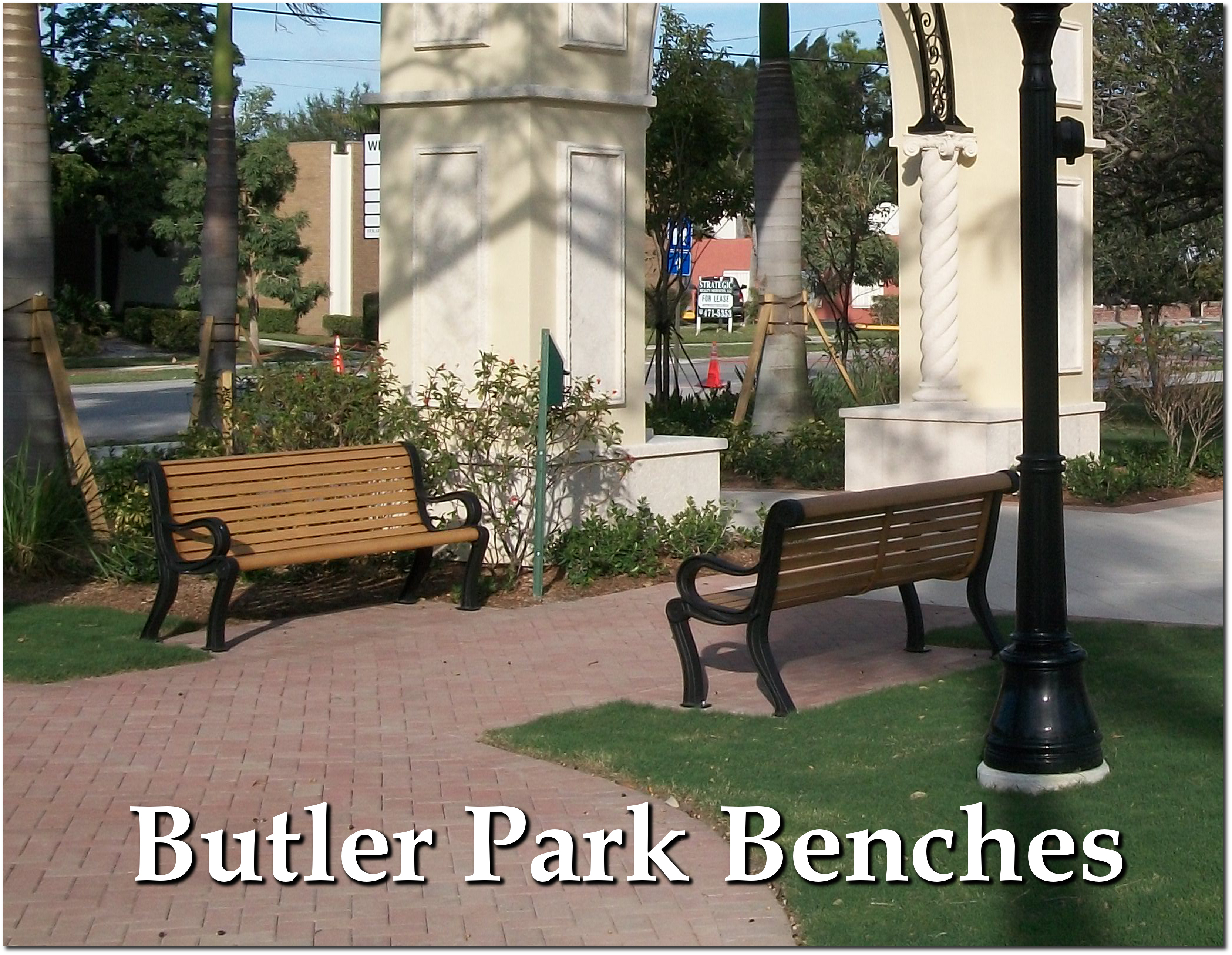 Butler Collection Park Benches