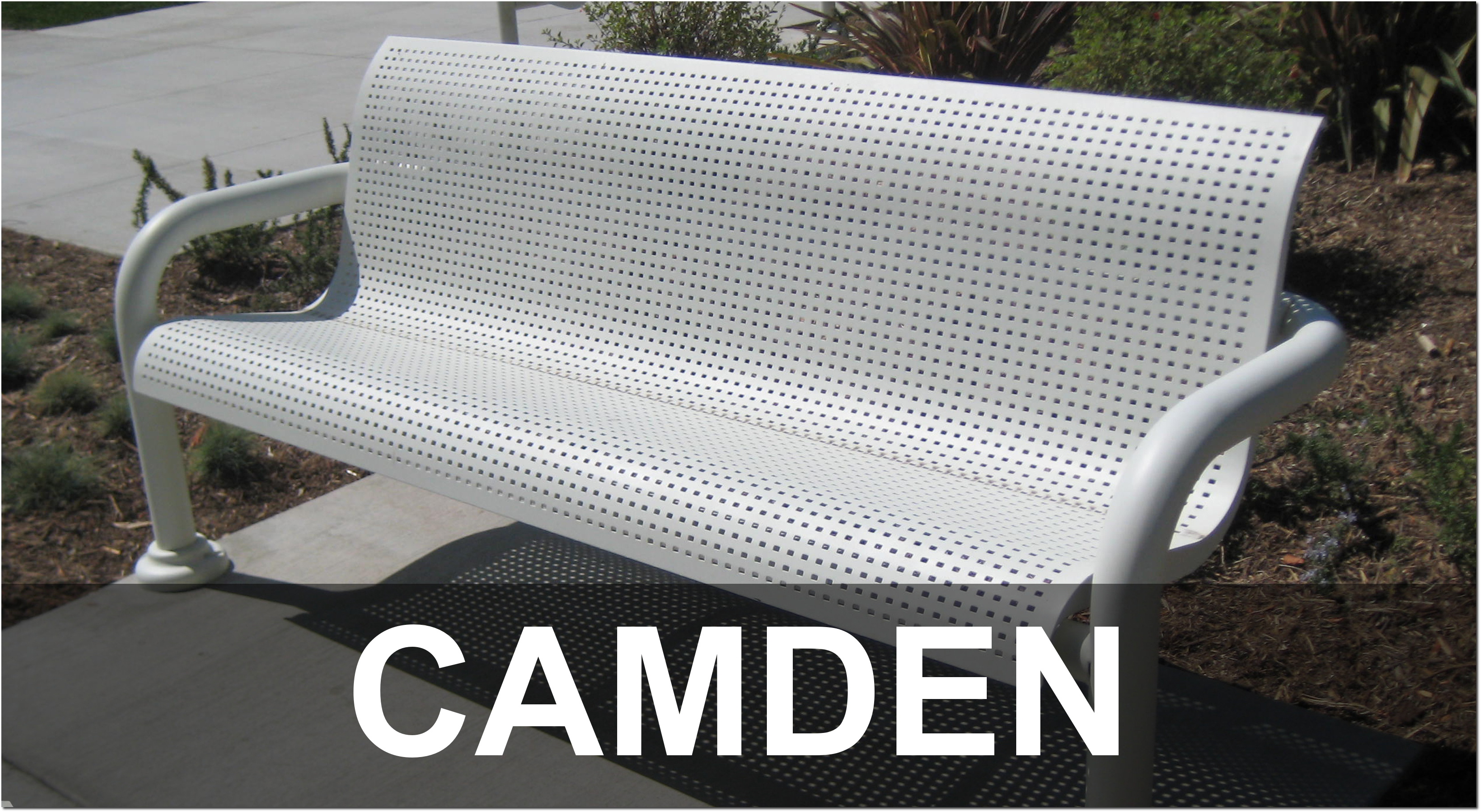 Camden Collection Contemporary Park Benches