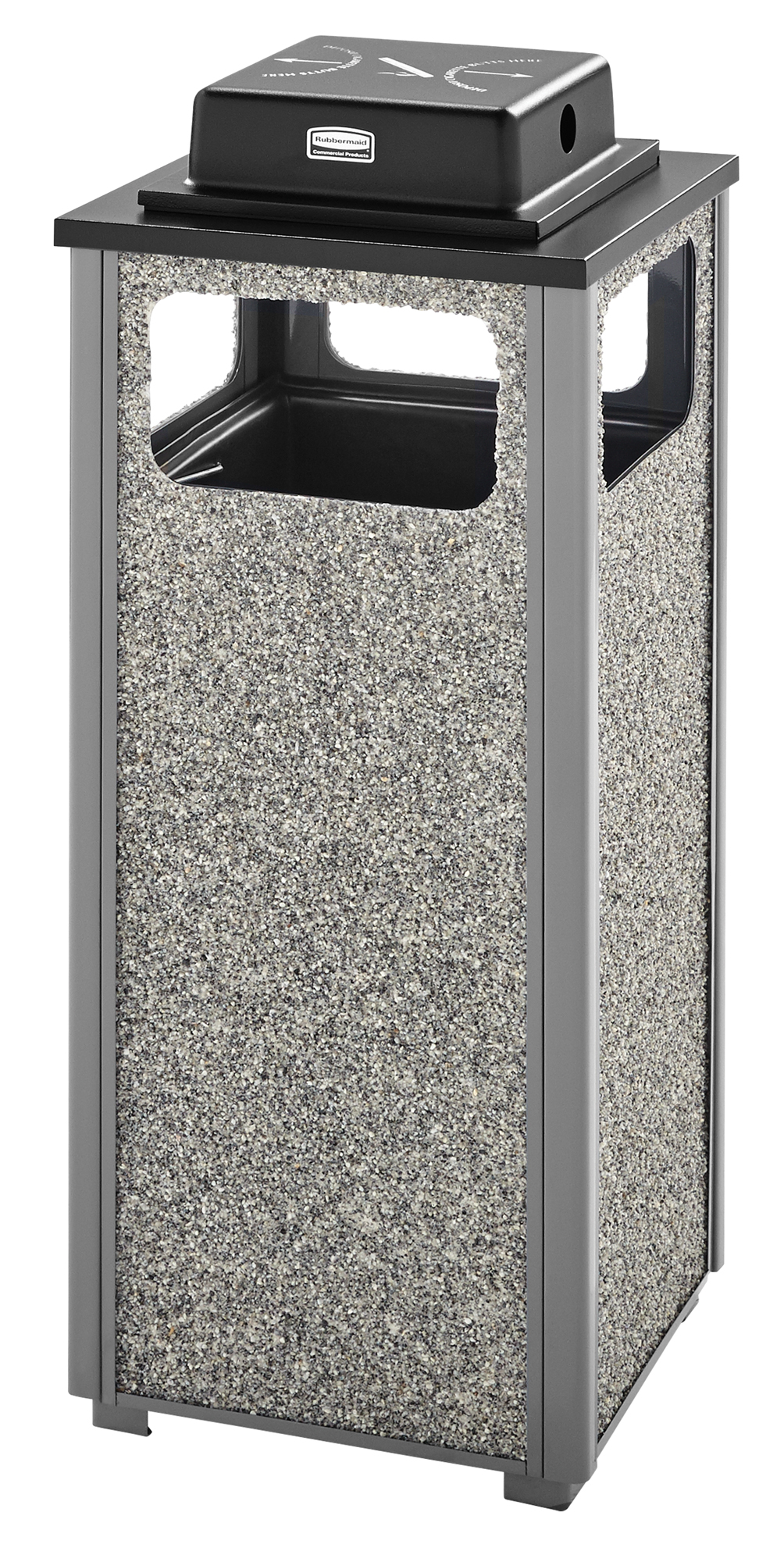 Aspen Series 12 Gallon Ash/Trash Receptacle with Weather Urn Top