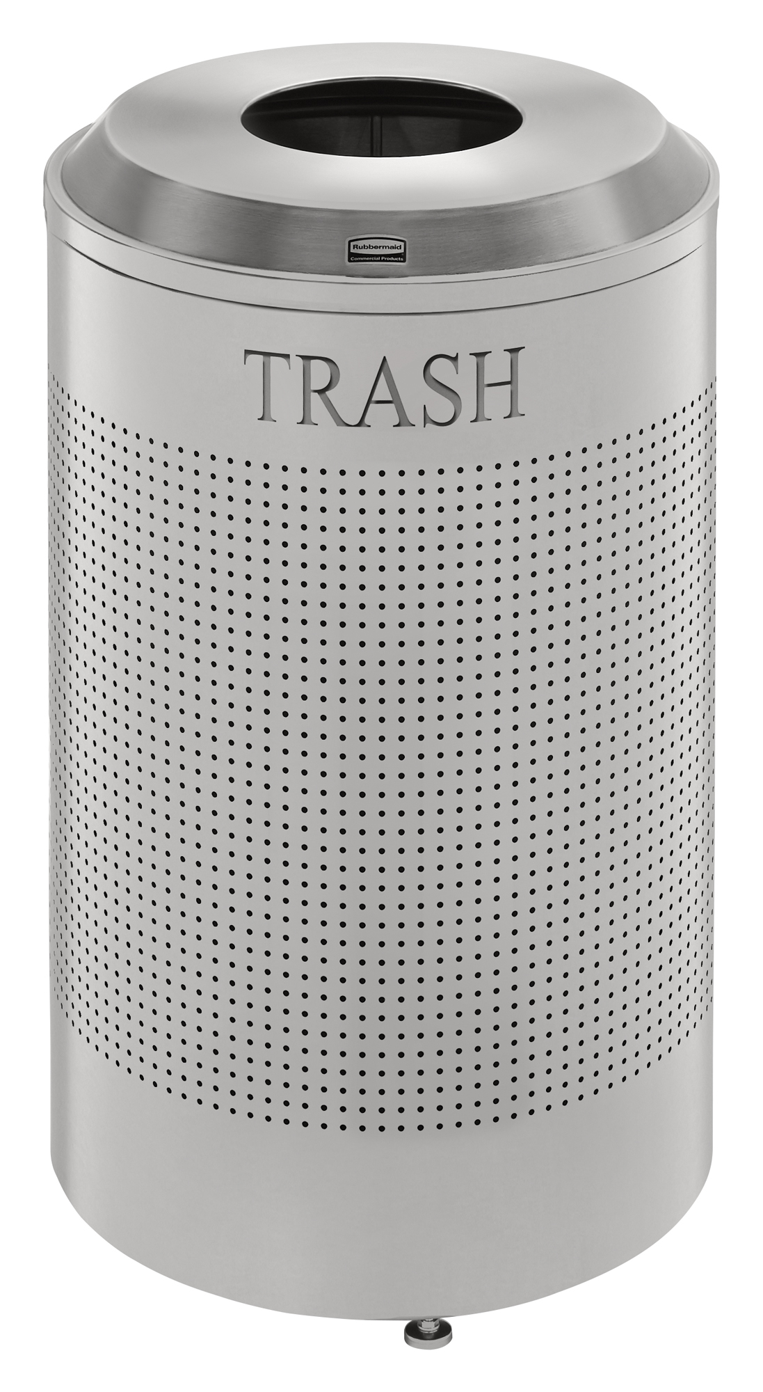 DRR24T  Silhouettes Collection 26 Gallon Round Recycling Receptacle with Trash Lid