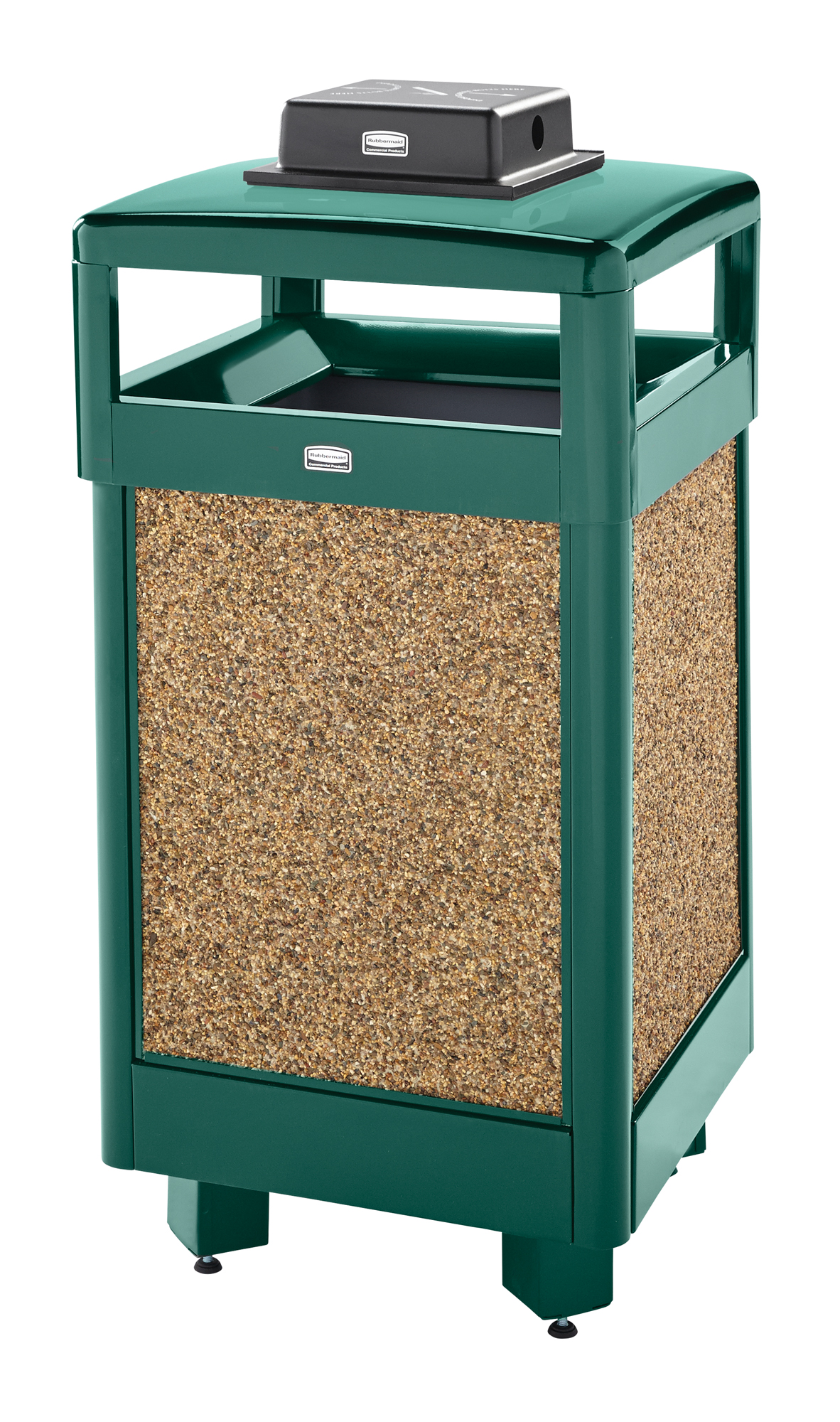 R36HTWU  Aspen Series 29 Gallon Aggregate Trash Receptacle with Weather Urn Top