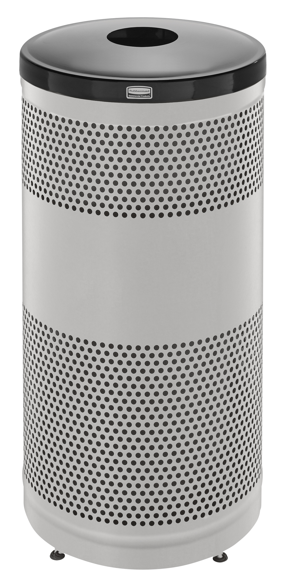 S3SSG  Classics Collection 25 Gallon Round Stainless Steel Recycling Receptacle with Glass/Bottle Lid