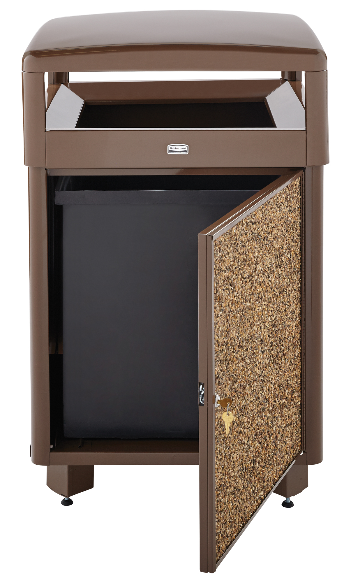 R38SD  Aspen 38 Gallon Aggregate Trash Receptacle with Side Door