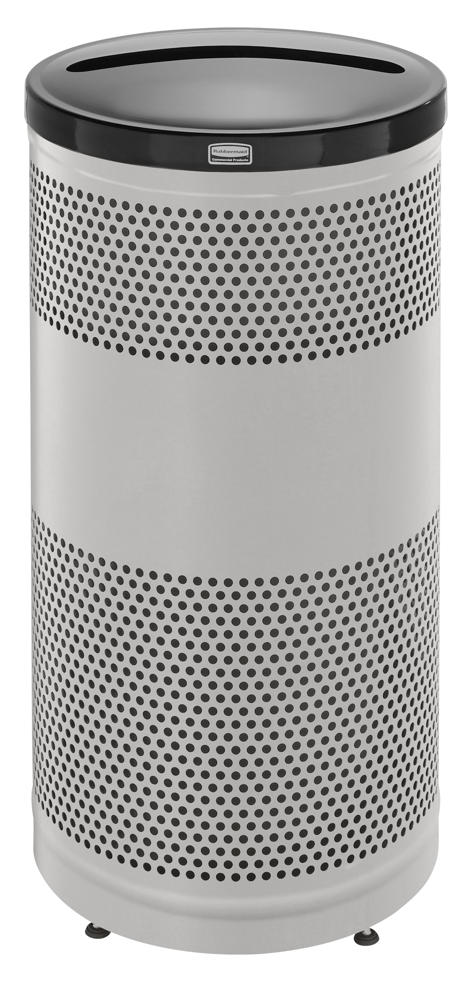 S3SSP  Classics Collection 25 Gallon Round Stainless Steel Recycling Receptacle with Newpaper/Paper Lid