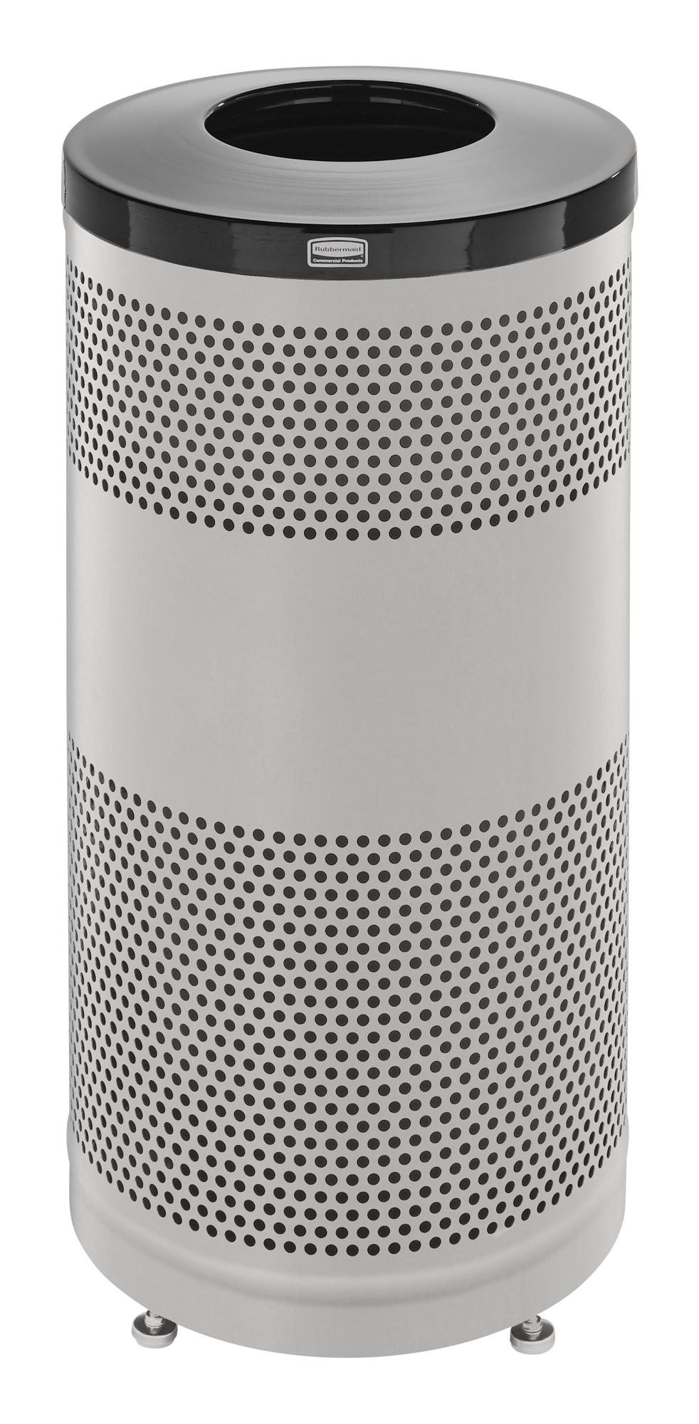 S3SS  Classics Collection 25 Gallon Round Stainless Steel Open Top Trash Receptacle
