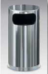 SO16SSS  Stainless Steel Collection 12 Gallon Side Opening Trash Receptacle