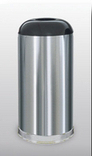 R32 SSS Stainless Steel Collection 15 Gallon Open Dome Top Trash Receptacle