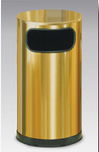 SO16SBS  Satin Brass Collection 12 Gallon Flat Top Trash Receptacle with Side Opening