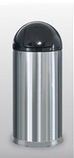 R1536SSS  Stainless Steel Collection 15 Gallon Trash Receptacle with Self-Closing Lid