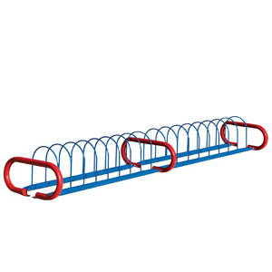 BRP101E  Triad 16 Bike Rack with Round Hoops & Horizontal Legs