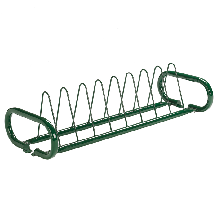 BRP102  Triad 8 Bike Rack with Triangle Hoops & Vertical Legs