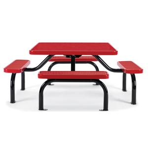 F2015  Ultra Collection Expanded Steel Square Picnic Table with (4) Bench Seats
