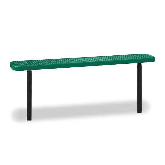 D3021 Victory 6' Perforated Steel Flat Bench (InGround Mounted)