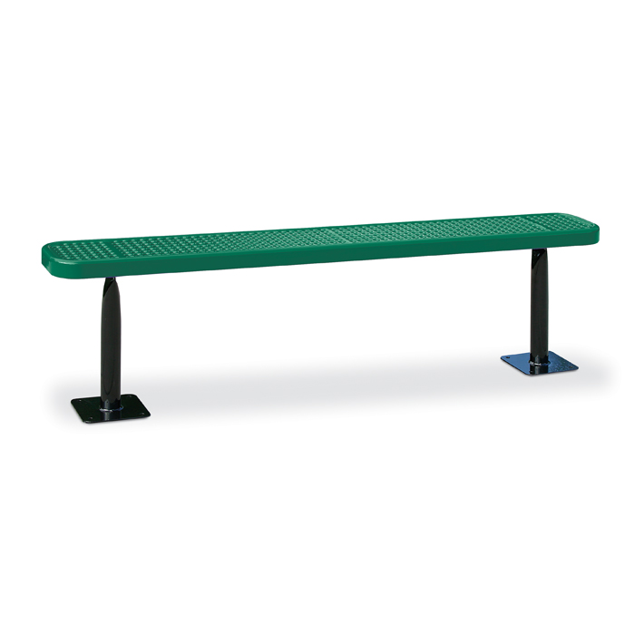 D3022  Victory Collection 6 Perforated Steel Flat Bench (Surface Mounted)