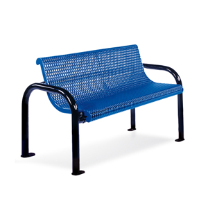 F1026  Ultra Collection 4' Expanded Steel Contour Bench (Portable/Surface Mounted)